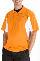 Sweetwater Side Blocked Sport Polo - Gold, X-Large