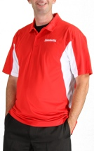 Sweetwater Side Blocked Sport Polo - Red, XX-Large
