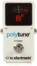 TC Electronic PolyTune 2 Polyphonic LED Guitar Tuner Pedal