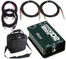Radial ProD2 Stereo Passive DI Package