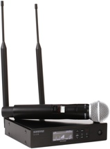 Shure QLXD24/SM58 Handheld Wireless System - H50 Band, 534-597MHz