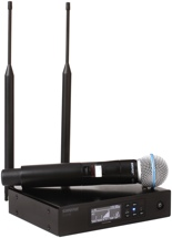 Shure QLXD24/B58 Handheld Wireless System - G50 Band, 470-534MHz