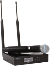 Shure QLXD24/B58 Handheld Wireless System - H50 Band, 534-597MHz
