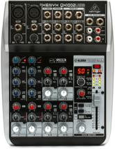 Behringer Xenyx QX1002USB Mixer and USB Audio Interface with Effects