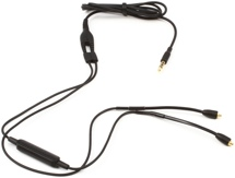 "Shure RMCE Remote + Mic Cable w/ MMCX Connectors, 50"" - Black"