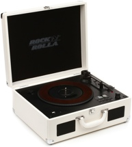 Rock N Rolla XL Briefcase Turntable - White