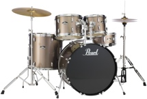 Pearl Roadshow 5pc Drum Set with Wuhan Cymbals - Bronze Metallic