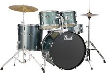 Pearl Roadshow 5pc Drum Set with Wuhan Cymbals - Charcoal Metallic