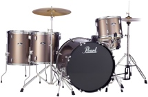Pearl Roadshow 5pc Rock Drum Set with Wuhan Cymbals - Bronze Metallic