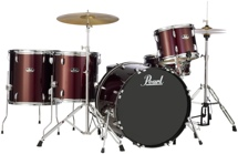 Pearl Roadshow 5pc Rock Drum Set with Wuhan Cymbals - Wine Red