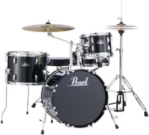 Pearl Roadshow 4pc Drum Set with Wuhan Cymbals - Jet Black