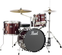 Pearl Roadshow 4pc Drum Set with Wuhan Cymbals - Wine Red