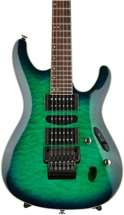 Ibanez S Prestige S6570Q - Surreal Blue Burst Gloss