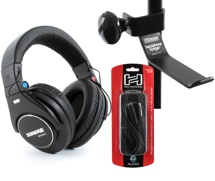 Shure SRH840 Headphone, Hanger, Cable Bundle