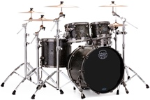 Mapex Saturn V MH Exotic 4-piece Shell Pack - Flat Black Maple Burl