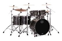 Mapex Saturn V MH Exotic 5-piece Shell Pack - Flat Black Maple Burl