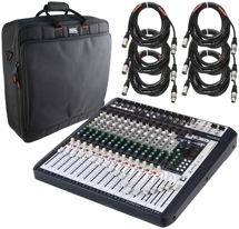 Soundcraft Signature16 Mixer with Case and Cables