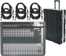 Soundcraft Signature22 MTK Mixer with Case and Cables