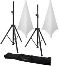 Gator Frameworks 3000 Speaker Stand, Bag and Cover Package - White
