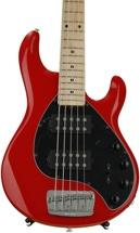 Ernie Ball Music Man StingRay 5HH, Sweetwater Exclusive - Chili Red with Maple Fingerboard