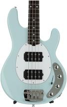 Ernie Ball Music Man Stingray 4 HH - Powder Blue, Rosewood Fingerboard