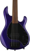 Ernie Ball Music Man Stingray 5 H Fretless - Firemist Purple, Pau Ferro Fingerboard