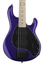 Ernie Ball Music Man Stingray 5 HH - Firemist Purple w/Matching Headstock, Maple Fingerboard