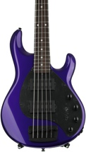Ernie Ball Music Man Stingray 5 HH - Firemist Purple w/Matching Headstock, Rosewood Fingerboard