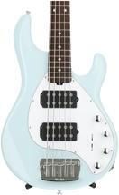 Ernie Ball Music Man Stingray 5 HH - Powder Blue, Rosewood Fingerboard