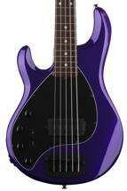 Ernie Ball Music Man Stingray 5 H Left-Handed - Firemist Purple, Rosewood Fingerboard