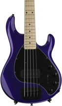 Ernie Ball Music Man Stingray 5 H - Firemist Purple with Matching Headstock, Maple Fingerboard