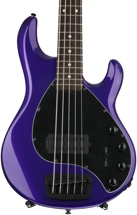 Ernie Ball Music Man Stingray 5 H - Firemist Purple with Matching Headstock, Rosewood Fingerboard