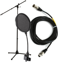 Sweetwater Mic Stand, Cable, and Pop Filter