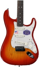 Fender American Deluxe Ash Strat - Aged Cherry Burst, Rosewood