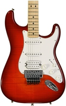 Fender Standard Stratocaster HSS Plus Top with Floyd Rose - Aged Cherry Burst with Maple Fingerboard
