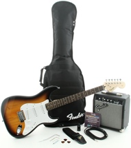 Squier Affinity Strat Pak SSS with Frontman 10G Amp - Brown Sunburst