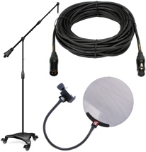 Sweetwater Studio Mic Stand, Cable, Pop Filter Package - w/Mogami, sE Electronics & Ultimate Support