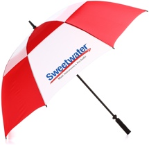 Sweetwater Umbrella - Red/White