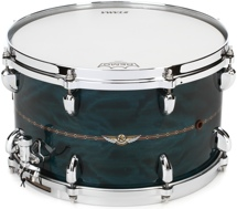"Tama Star Series Bubinga Snare Drum - 8""x14"" - Wild Sea Blue Bosse"