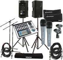 QSC TouchMix-16 with K10 Speakers and 2 Microphones
