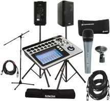 QSC TouchMix-8 with K8 Speakers and Microphone