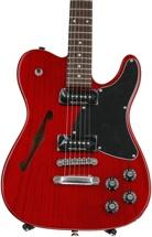Fender Jim Adkins JA-90 Telecaster Thinline - Crimson Transparent, Rosewood fingerboard