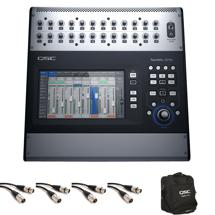 QSC TouchMix-30 Mixer with Tote Bag and Mogami Cables