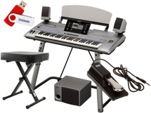 Yamaha Tyros5 61-key Deluxe Keyboard Bundle