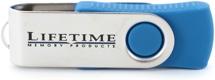 Lifetime Memory USB Flash Drive - 4 GB