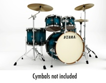 Tama Silverstar Custom 5-Piece Drum Kit - Transparent Blue Burst