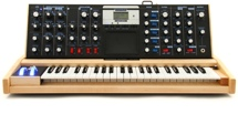 Moog Minimoog Voyager Select Series - Electric Blue with Maple Cabinet
