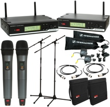 Sennheiser XSW35 Dual Wireless Handheld Microphone System with Accessories