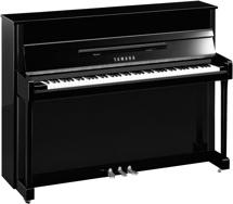 Yamaha b2 Acoustic Upright Piano - Polished Ebony with Chrome Accents