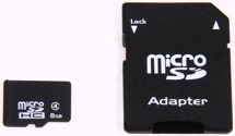 Lifetime Memory 8GB microSD Card - 8 GB, Micro, Class 4